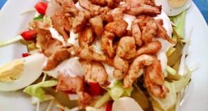 Károlyi saláta roston csirkecsíkokkal