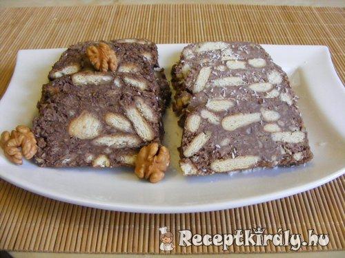 Kókuszos keksz szalámi 2