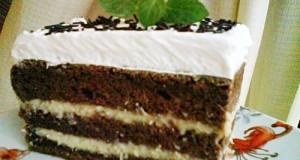Kókuszos tejszínhabos süti