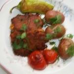 Kolbászos tökfasírt sült zöldségekkel 2