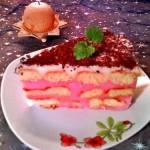 Málnás babapiskótás torta 2