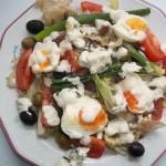 Majonézes saláta tojással kecskesajttal 1