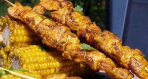 Marokkói csirkemell nyárson