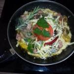 Mediterrán omlett 1