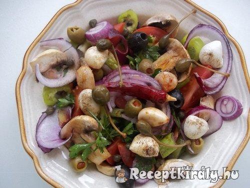 Mediterrán saláta bruschetta-val 1