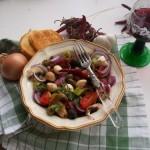 Mediterrán saláta bruschetta-val 2