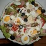 Mediterrán saláta tojással 1