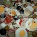 Mediterrán saláta tojással 2