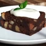 Mogyorós csokoládés brownie 1