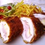 Mozzarellával és főtt füstölt tarjával töltött csirkemell 3