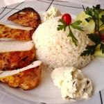 Mustáros borsos csirkemell zöldfűszeres krémsajttal 1