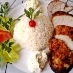 Mustáros borsos csirkemell zöldfűszeres krémsajttal 2