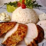 Mustáros borsos csirkemell zöldfűszeres krémsajttal 3