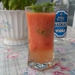 Paradicsom cocktail bazsalikommal vodkával 2
