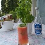 Paradicsom cocktail bazsalikommal vodkával 3