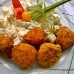 Rántott karfiol majonézes krumplival