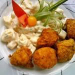 Rántott karfiol majonézes krumplival 2