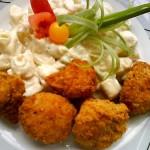 Rántott karfiol majonézes krumplival 3