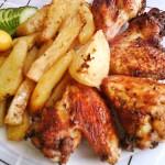 Ropogós csirke szárnyak burgonya ágyon 2