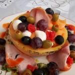 Sárgadinnye sonkával lazacszeletekkel 1