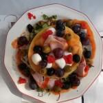 Sárgadinnye sonkával lazacszeletekkel 3
