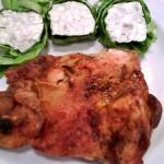 Sült csirkecomb filé rokfortos tekercsekkel 2