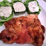 Sült csirkecomb filé rokfortos tekercsekkel 3