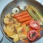 Sült kolbászkák krumplival zöldségekkel 1