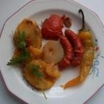 Sült kolbászkák krumplival zöldségekkel 3