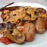 Sült töltött kaliforniai paprika zöldségekkel tojással 1