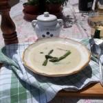 Sajtleves zöld spárgával fehérborral 2