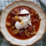 Szalonnás paprikás krumpli lecsó és füstölt kolbásszal tejföllel 1