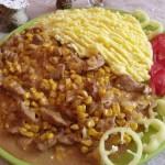 Tejszínes kukoricás sertéscomb krumplipürével 1