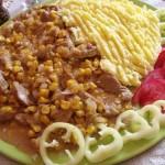 Tejszínes kukoricás sertéscomb krumplipürével 3