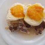 Torta vanília fagylalttal narancs jammel brandyvel 1
