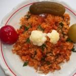 Vörösboros bácskai rizseshús vegyes savanyúsággal 2