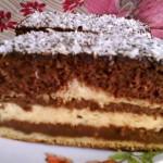 Vajkrémes csokis süti