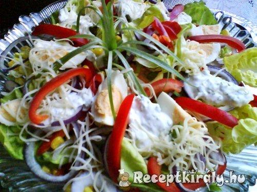 Vegyes saláta snidlinges joghurttal