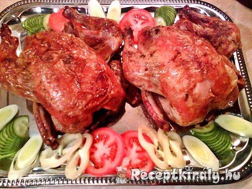 Zöldfűszeres sült csirke
