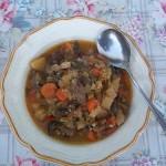 Zöldséges egytál (leves) kacsaszívvel 1