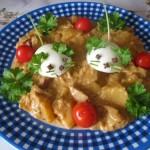 Édeskáposzta főzelék krumplival tojásegerekkel 3