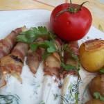 Baconba tekert spárga újkrumplival tartár szósszal 1