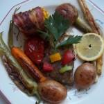 Busa szelet zöldségekkel grillezve 1