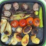 Cevapcici grillezett zöldségekkel 1