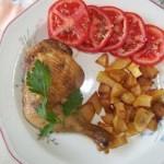 Csirkecomb és krumpli együttsütve 1