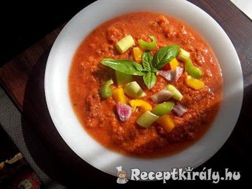 Gazpacho hideg paradicsomleves főzés nélkül
