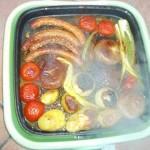 Grillezett kolbászkák és zöldségek 1