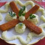 Halrudak krumplipürével 1