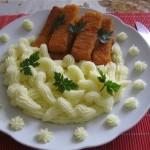 Halrudak krumplipürével 2