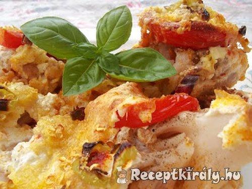 Kolbászos sajtos rakott karfiol
